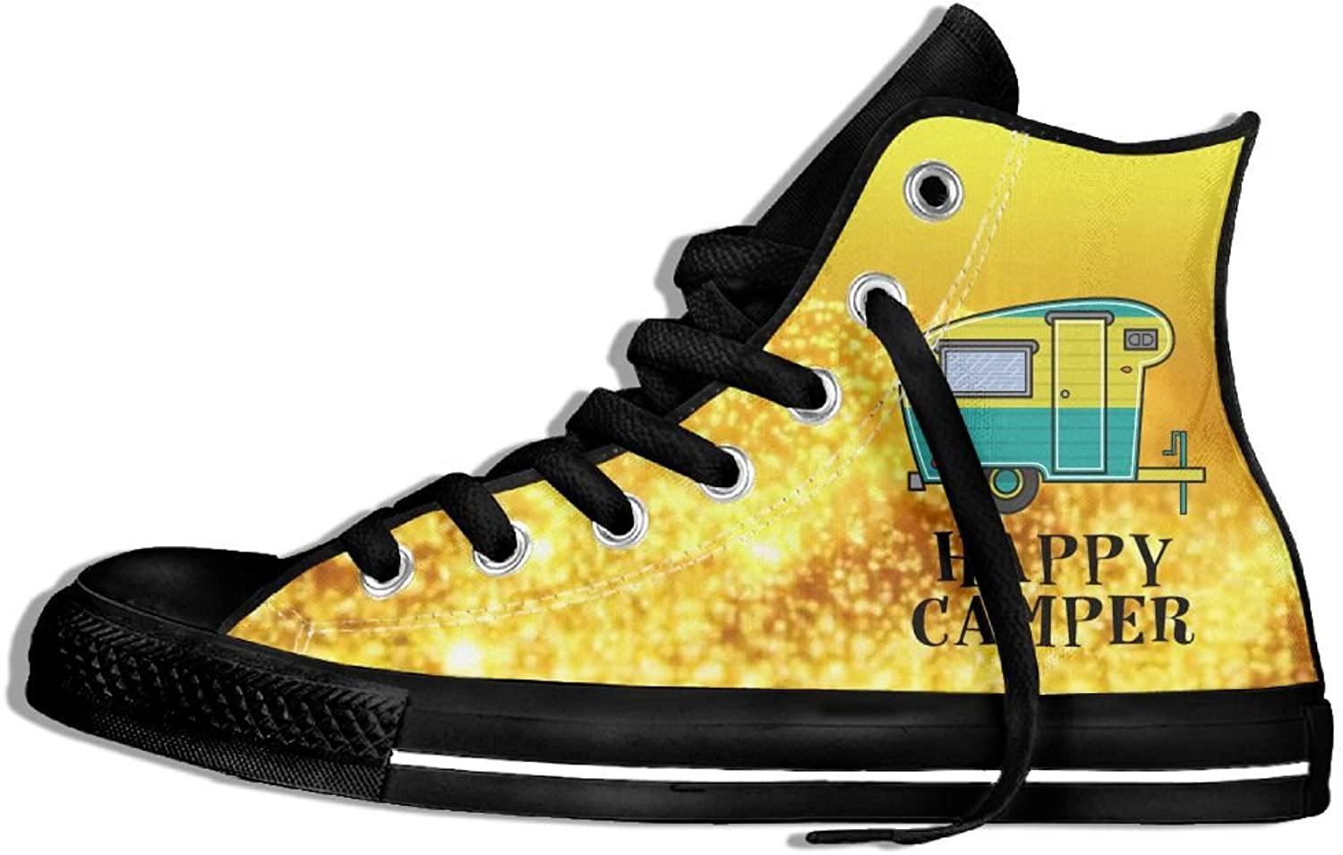 Happy Camper High Top Classic Casual Canvas Fashion shoes Sneakers For Women & Men