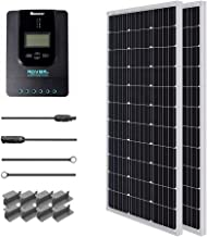 Renogy 200 Watt 12 Volt Monocrystalline Solar Starter Kit w/ 40A Rover MPPT Charge Controller + MC4 Connectors +Tray Cable+ Mounting Z Brackets for RV, Boat