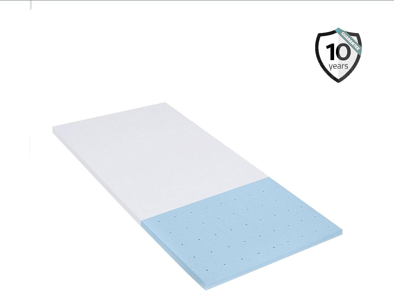 Polar Sleep Gel Memory Foam Topper 2.5 Inch Ultra-Premium mattress Topper For bed Cooling Technology Certipur Full Size