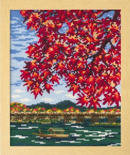 オリムパス製絲 ししゅうキット「紅葉の嵐山」 No.7388