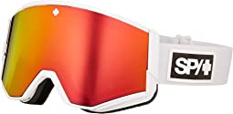 Matte White - Hd Plus Bronze w/ Red Spectra Mirror + Hd Plus Ll
