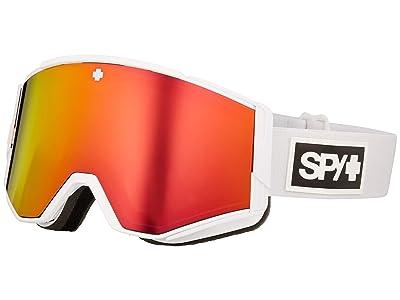 Spy Optic Ace (Matte White Hd Plus Bronze w/ Red Spectra Mirror + Hd Plus Ll) Goggles
