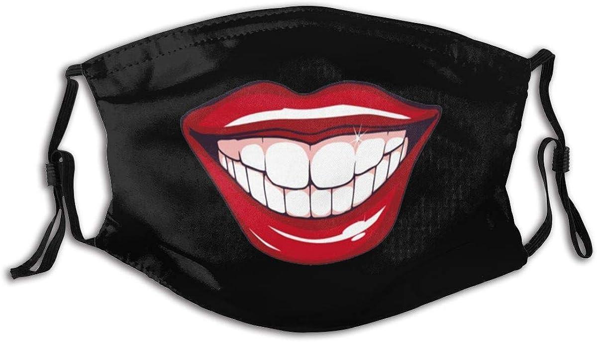 Fake smile Face Mask Fashion Dustproof Breathable Reusable Scarf Adjustable Washable Protective Bandana