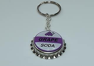 1 GRAPE SODA bottle cap keychain INSPIRED by Disney UP