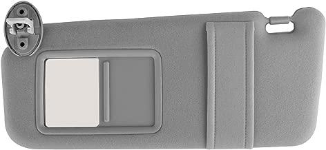 Xislet Driver Side Sun Visor Replace 74320-0T021-B1 for 2007-2017 Toyota Venza Sunvisor Sunroof with Vanity Light # 74320-0T022-B1 – Light Gray