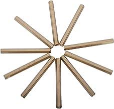 Fijne noten M3 x 50mm Vrouw/Vrouwelijke Draad Messing Hex Standoff Spacer 10st sterk en stevig (Color : Gold Tone)