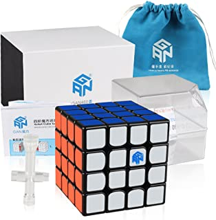 Coogam Gans 460 M Speed Cube 4x4 Gan460 Magnetic Puzzle Cube with IPG System (Black)