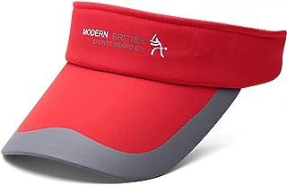 Men Womens Cap Summer Empty Top Hat Pattern Cap with Straight Visor Splicing Sun Hat Sombrero