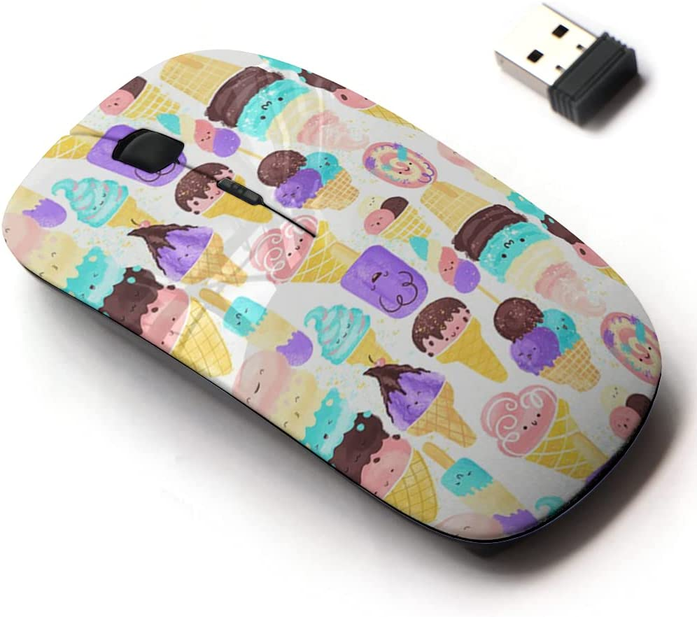 2.4G Wireless Mouse with Cute Manufacturer OFFicial shop Pattern ...