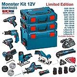 BOSCH Kit 12V BMK9AD3 (GSR 12V-15+GTB 12V-11+GDR 12V-105+GWS 12V-76+GST 12V-70+GKS 12V-26+GOP 12V-LI+GSA 12V-14+GLI 12V-80)