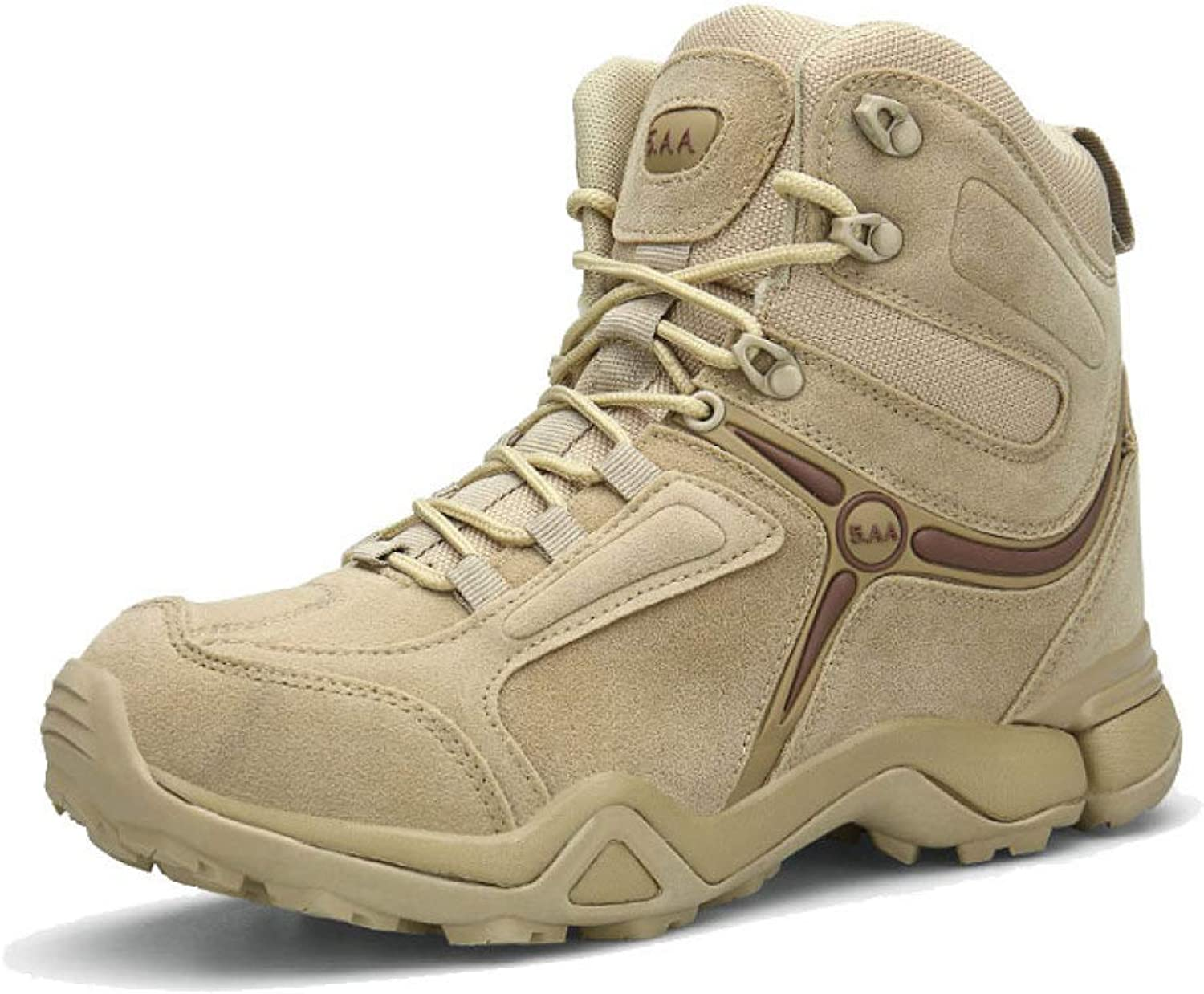 ASJUNQ Men's Outdoor Military Boots Wear Hiking shoes Martin Boots Non-Slip Desert Boots Hiking Boots
