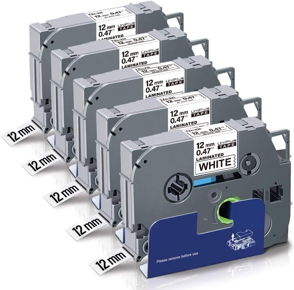 5x Schriftband Kompatibel für Brother TZ-231 P-Touch PT E100 H100R H300 D200