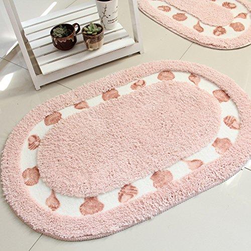 GRENSS Home Teppich Shaggy und weichen Matte für Wohnzimmer/Schlafzimmer/Küche/Bad Eingang Fußmatte Anti-Skid Wolldecke Water-Absorbing Matte, 01,400 mm x 600 mm