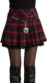 Le Gonne Scozzesi Spesse Pieghe Slim Tweed Mini Gonna Caldo Vestito