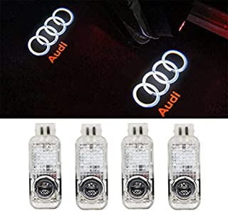 Klinee Audi Accessories Car Door LED Lighting Logo Projector Courtesy Welcome Lights For Audi (4-Pack)