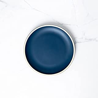 Siena Fine Dining Round Dinner Plate in Dark Blue| Ceramic Plates, Dinner Set| | 8 inch by Simply Chef