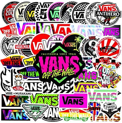 50PCS Vans Stickers For Scrapbooking Laptop Guitar Skateboard Suitcase Decal Animal Puppy Sticker