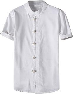 Daysing Herren Werkzeug-Hemd Jacke Shirt Top M/änner Kurze /Ärmel Milit/är Retro Logo Gezeitenmarke billig S-6XL Slim