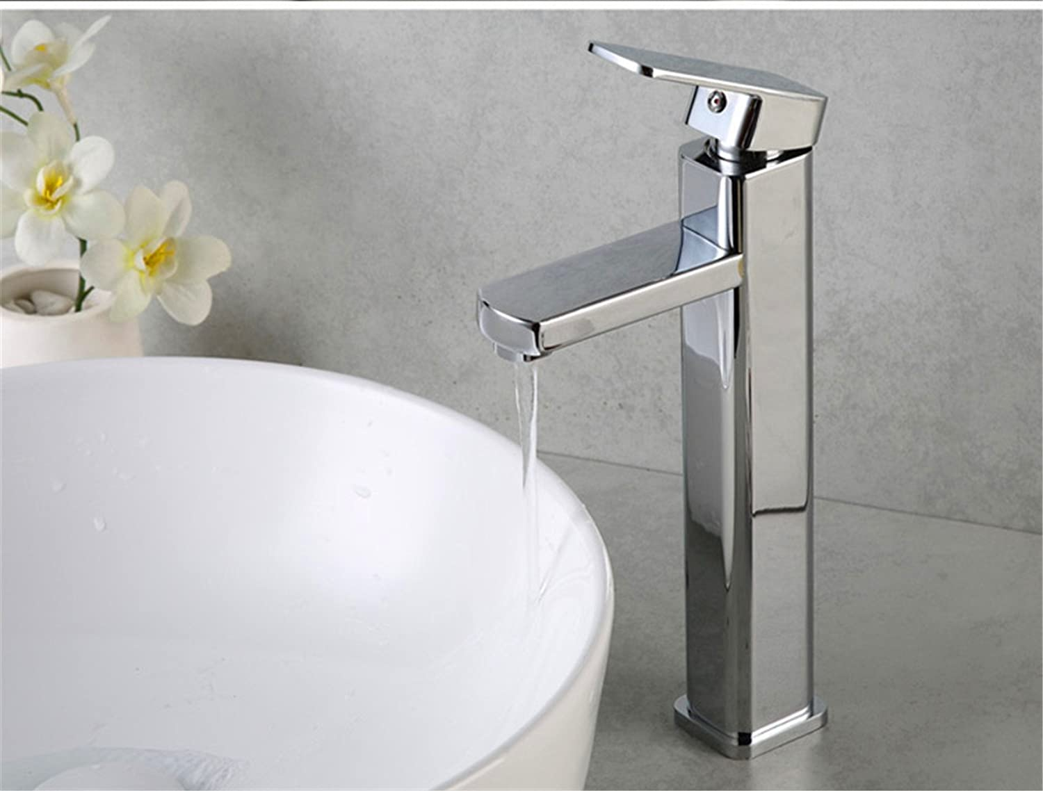 LaLF European Faucet Hot and Cold Basin Faucet?Heightened Washbasin Faucet Above?Counter Basin Faucet