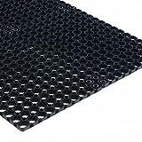Tapis caillebotis en caoutchouc etm® Octo Door | épaisseur 20mm | fonction tapis brosse + tapis anti-fatigue | usage PRO | tailles au choix - 40x60cm