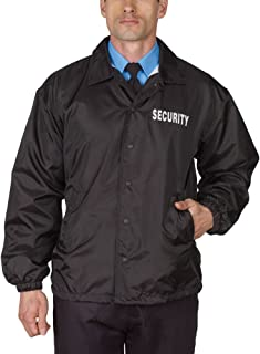 HPU Security Windbreaker Jacket Black Lined 100% Brushed Polyester Tricot
