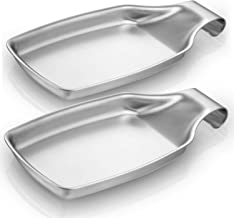 Spoon Rest Set of 2, Fungun Stainless Steel Spatula Ladle Holder for Stove, Heavy Duty &Good Grips for Kitchen, Spatula La...