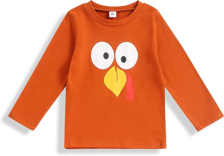 bilison Thanksgiving Baby Boy Clothes Turkey Long Sleeve Top T Shirt 2-6T