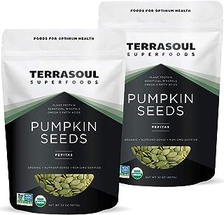 Sponsored Ad - Terrasoul Superfoods Organic Pumpkin Seeds, 4 Lbs - Premium Quality | Fresh | Raw | Unsalted