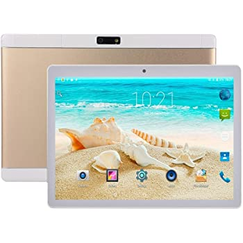 M-Fire Car Tablet PC, 10.1 inch, 2GB+32GB, Android 7.0 MTK6580 Quad Core 1.3GHz(Black) (Color : Gold)