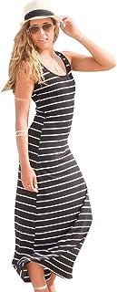 super cute 05d5c 14233 Amazon.it: Vestito nero a righe: Abbigliamento