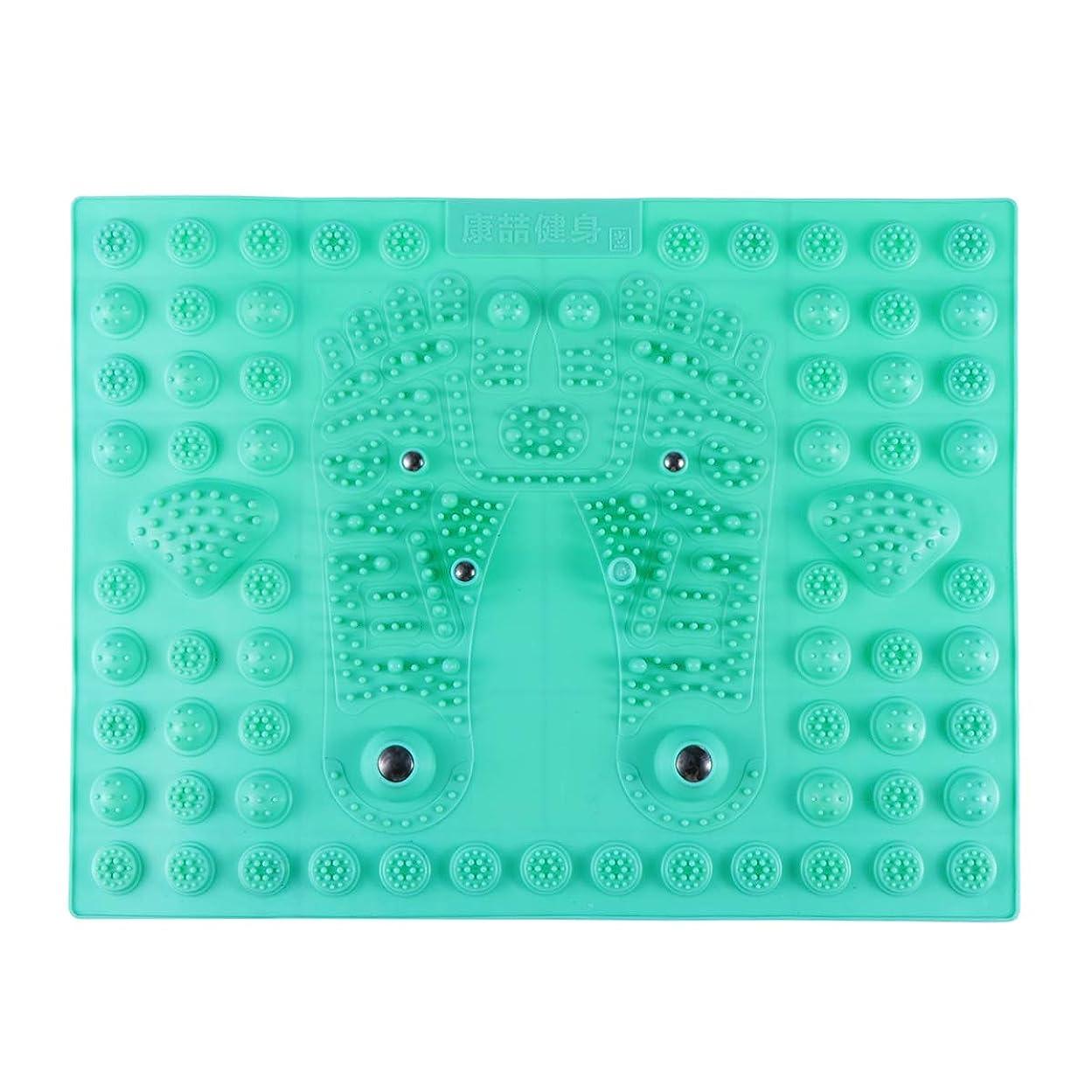 屈辱するたぶんマッシュHealifty リフレックスマッサージマット フットマッサージャー 磁気療法 プラスチック つま先プレッシャー プレートマッサージパッド 指圧リラクゼーションマット(グリーン)