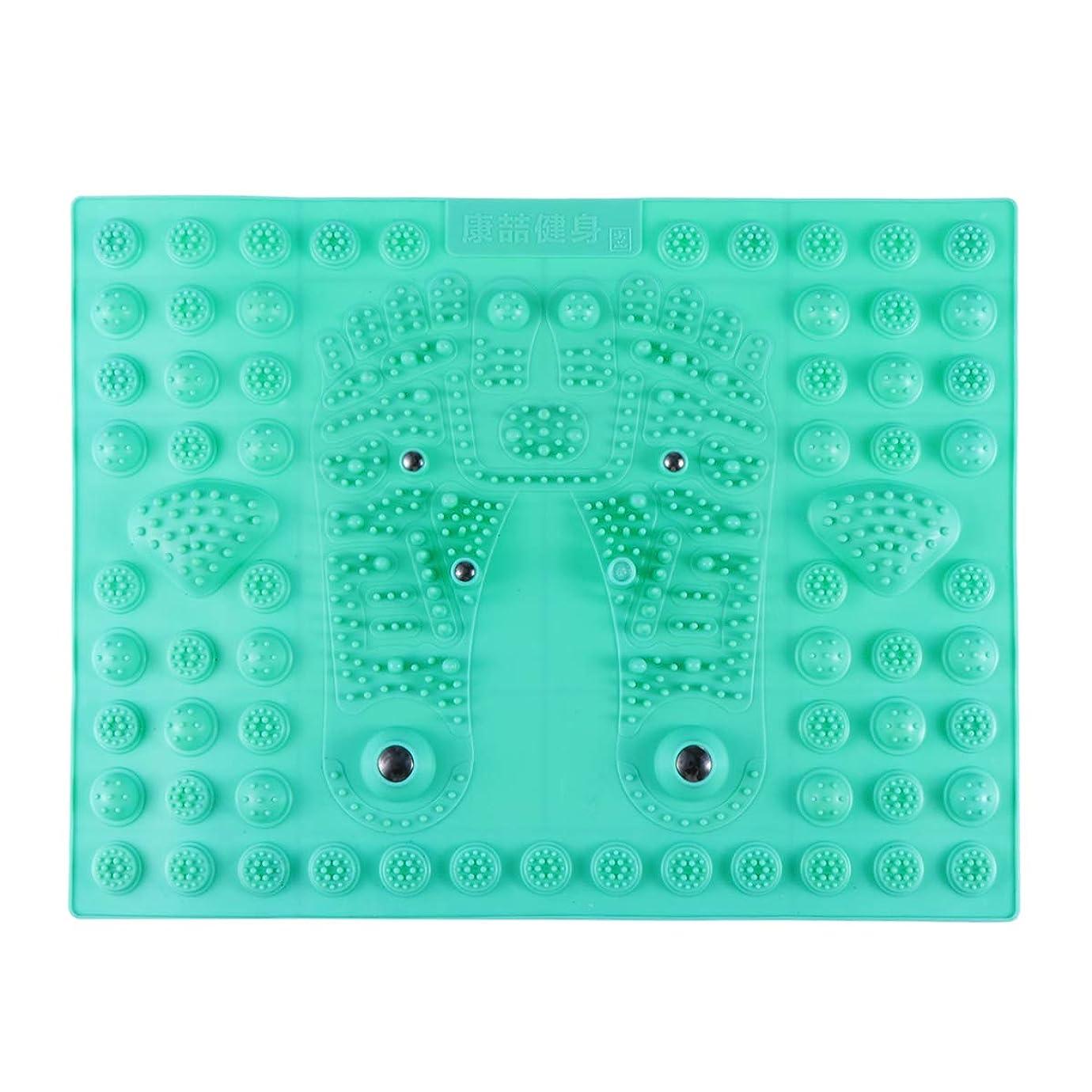 やるワークショップエクステントHealifty リフレックスマッサージマット フットマッサージャー 磁気療法 プラスチック つま先プレッシャー プレートマッサージパッド 指圧リラクゼーションマット(グリーン)