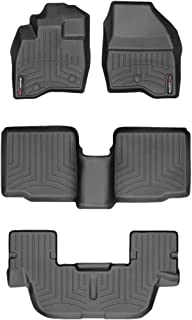 WeahterTech Custom FloorLiner for 2017-2019 Ford Explorer - 1st, 2nd, and 3rd Row (Black)