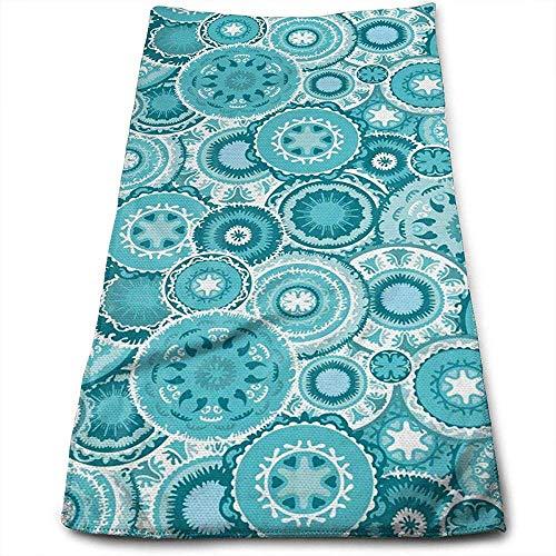 Bert-Collins Towel Tribal Hippie Ethnique Floral Feuilles Personnalité Amusant Motif Serviettes De Visage Fibre Superfine Super Absorbant Doux Serviettes De Gym