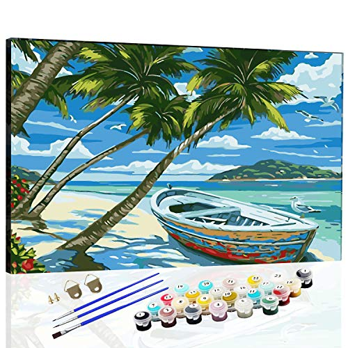 DIY Oil Paint by Number Kits Canvas for Painting Lovers, Kids & Adults...