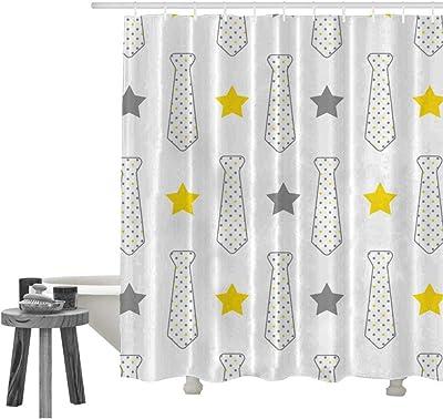 Amazon.com: Juego de cortinas de ducha, color rosa y azul ...