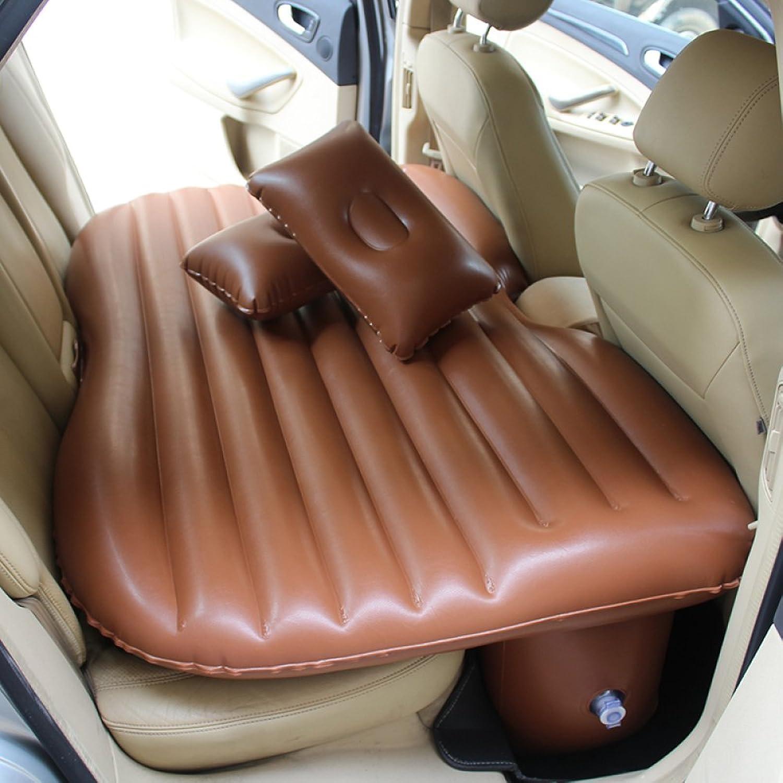 ERHANG Luftmatratzen Luftbetten Betten Luftmatratzen Wasserdichtes Auto-aufblasbares Bett-Rücksitz-Erwachsenes Tragbares Bett,braun