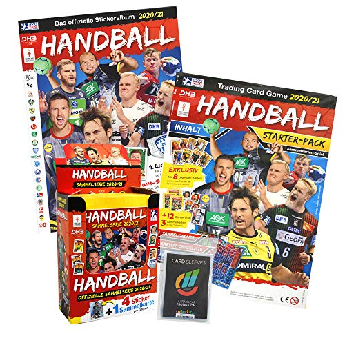 Generisch Handball Bundesliga 2020/21 Hybrid - Sammelsticker - 1 Display + Album & Starter + 40 Collect-it Hüllen Sleeves