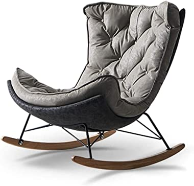 WANGLX Outdoor Rocking Chair Porch Furniture, Rocking Chair with Backrest 105° Swing Removable and Washable Relaxing Recliner