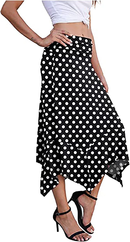 DXYDSC Women's Spring and Summer New Casual Elegant Handkerchief A-line Skirt