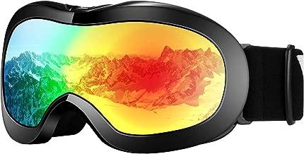VELAZZIO Kids Ski Goggles, Snowboard Goggles OTG Snow Goggles Anti-Fog Double-Layer Lenses, 100% UV Protection