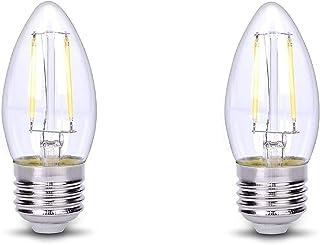 C35 LED Light Bulb E26 Base Candle Wire Filament DC 12V Low Voltage Home Fixtures Socket for Chandelier Candelabra Lamp Te...
