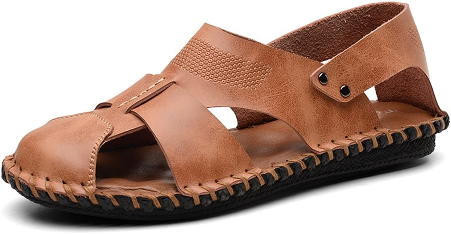 Men's Leather Sandals Closed-Toe Workout shoes