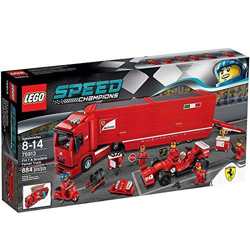 LEGO - F14 T y camión de la escudería Ferrari, Multicolor (75913)