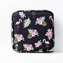 Yllang Draagbare grote capaciteit Maandverband Storage Bag Travel Storage Makeup Bag Jewelry Storage Bag (Color : Flaming...