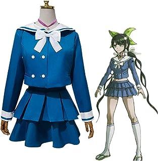 Disfraz de cosplay Anime Danganronpa V3: Killing Harmony Tenko Chabashira, disfraz de cosplay azul uniformes pelucas traje...