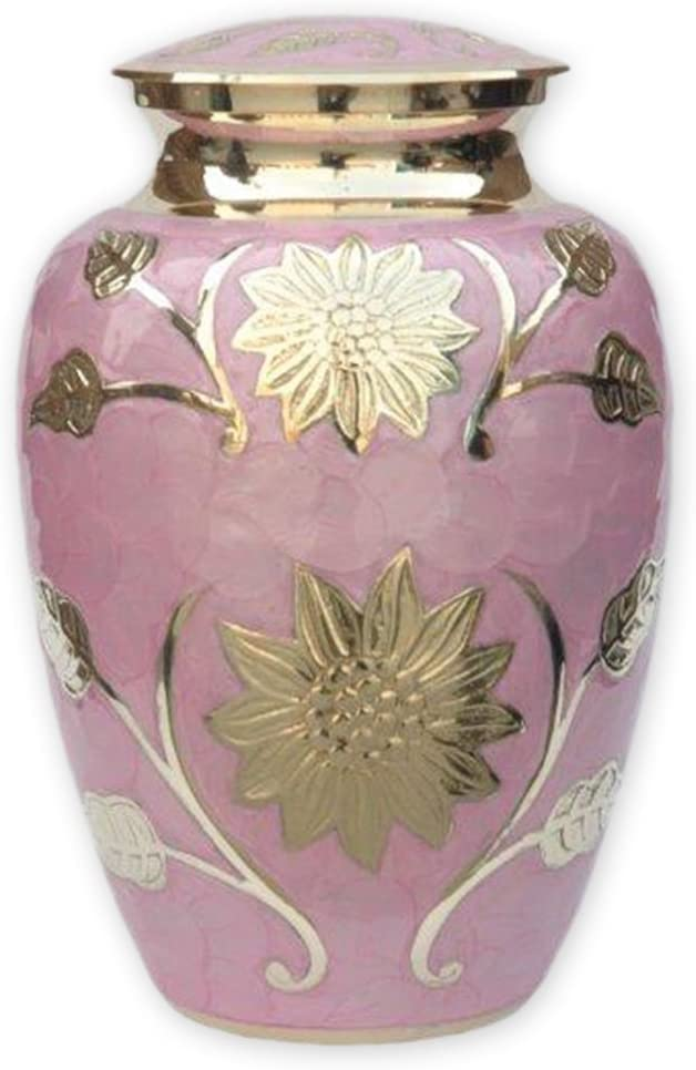Beautiful Life Urns Pink Garden Cremation New item Adult Size Max 57% OFF Brass Urn