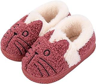 Pantofole Ragazze Inverno Pantofole Bambine Scarpe di Cotone Donne Warm Pantofole Antiscivolo Scarpe Bambine Invernali Cal...