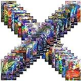 Poke Cards TCG Style Card Holo EX Full Art (20 GX + 20 Mega + 1 Energy + 59 EX Arts)
