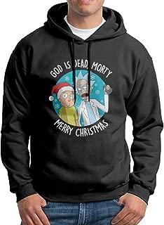 KIMBER Men Hoodie Rick & Morty Merry Christmas Crew Neck Long Sleeve Sweater